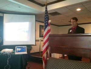 Jeff presenting at Arlington Council meeting