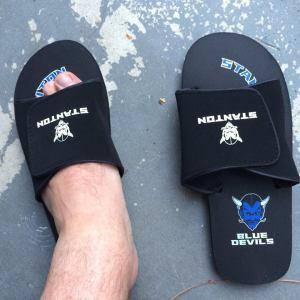 Blue Devils flip flops